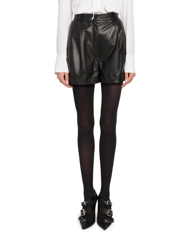 High-Waist Cuffed Shorts