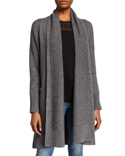 Wool-Cashmere Robe Cardigan