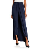 Hellessy Solar Skirted Stretch Cady Jogger Pants