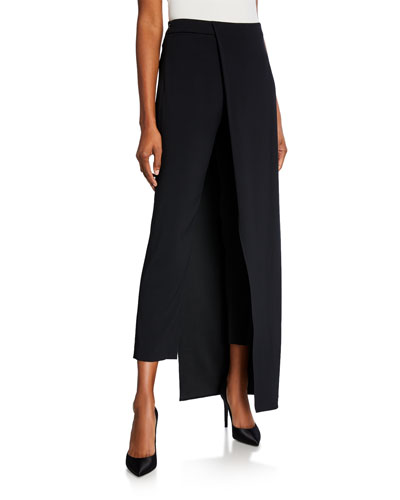 Eclipse Fitted Trousers with Overskirt
