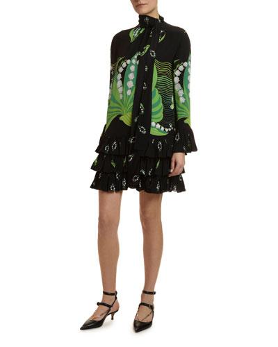 Lily Crepe de Chine Cocktail Dress