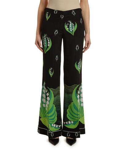 7f9b8282a3 Silk Flare Pants | Neiman Marcus