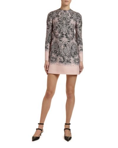 Lace Crepe Couture Dress