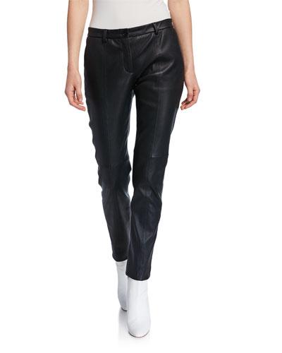 Leather Slim Pants
