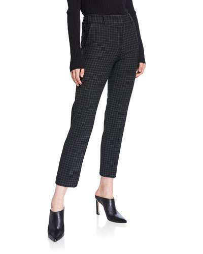 Kim Windowpane Ankle Trousers