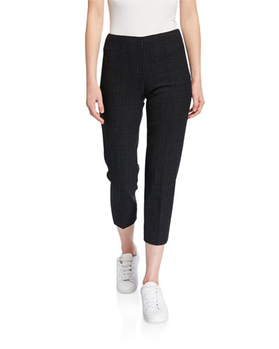 Audrey Grid-Checked Pants