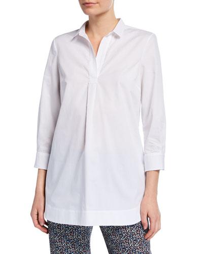 Poplin Henley Shirt