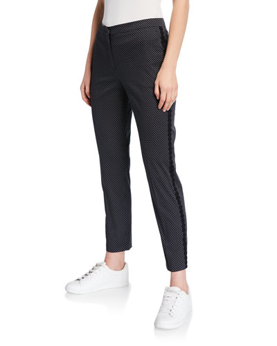 Macrame Seamed Dotted Pants