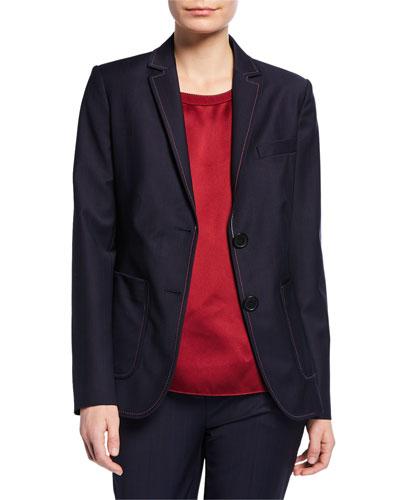 Stitched Pinstripe Jacket