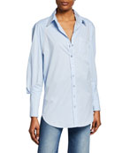 Johanna Ortiz Ruched-Sleeve Western Style Shirt and Matching
