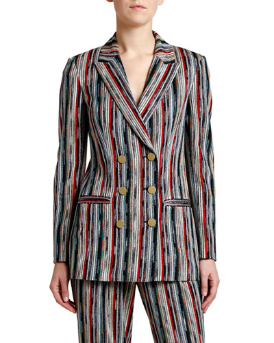 Striped Corded Metallic Jacket