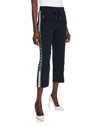 Felpa DG Logo Banded Cropped Drawstring Jersey Sweatpants