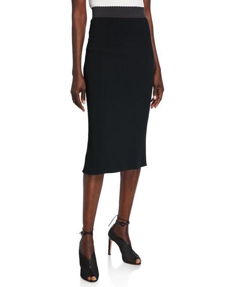 Dolce & Gabbana Stretch Cady Tubino Skirt