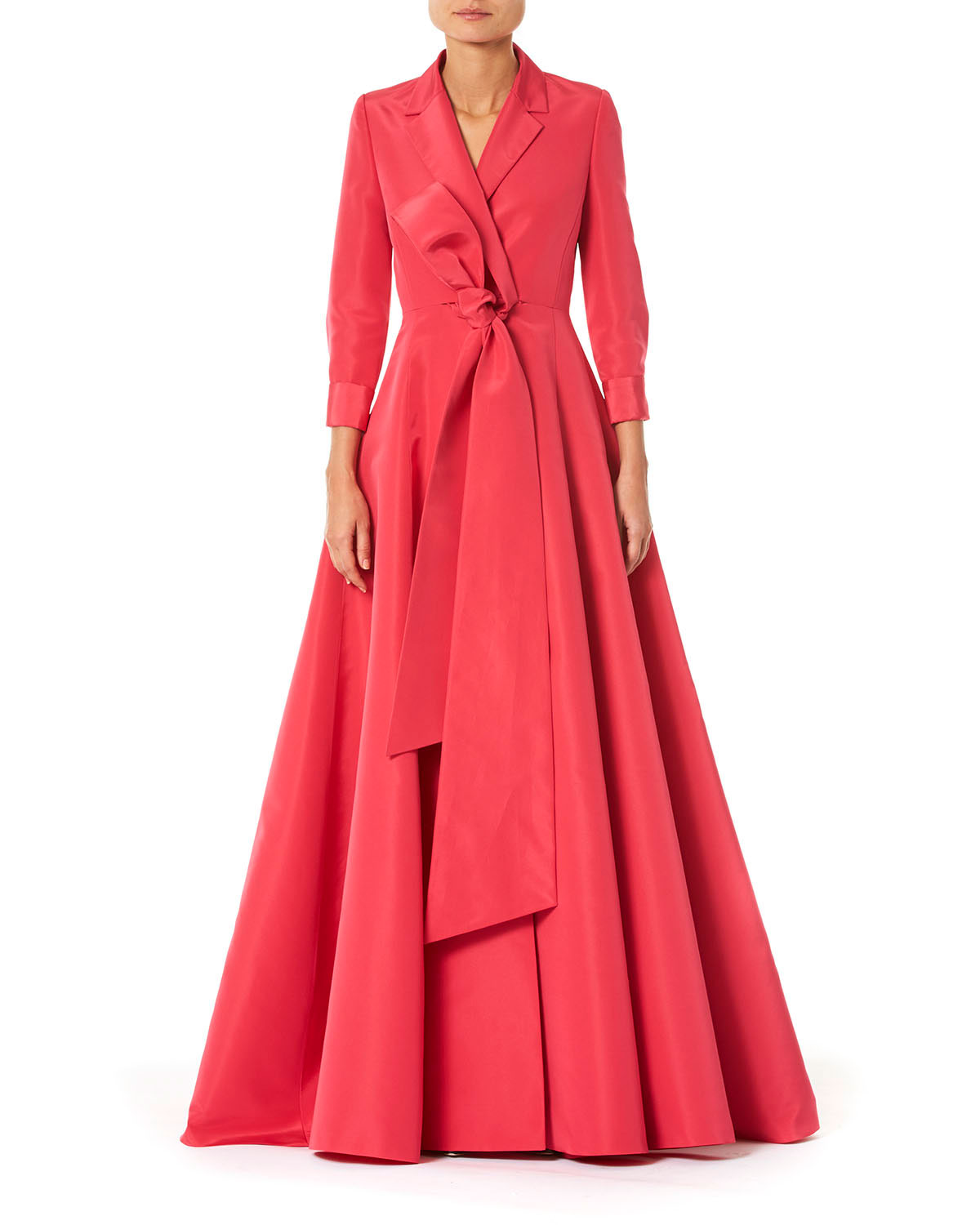 Carolina Herrera Tops NOTCHED LAPEL TRENCH GOWN