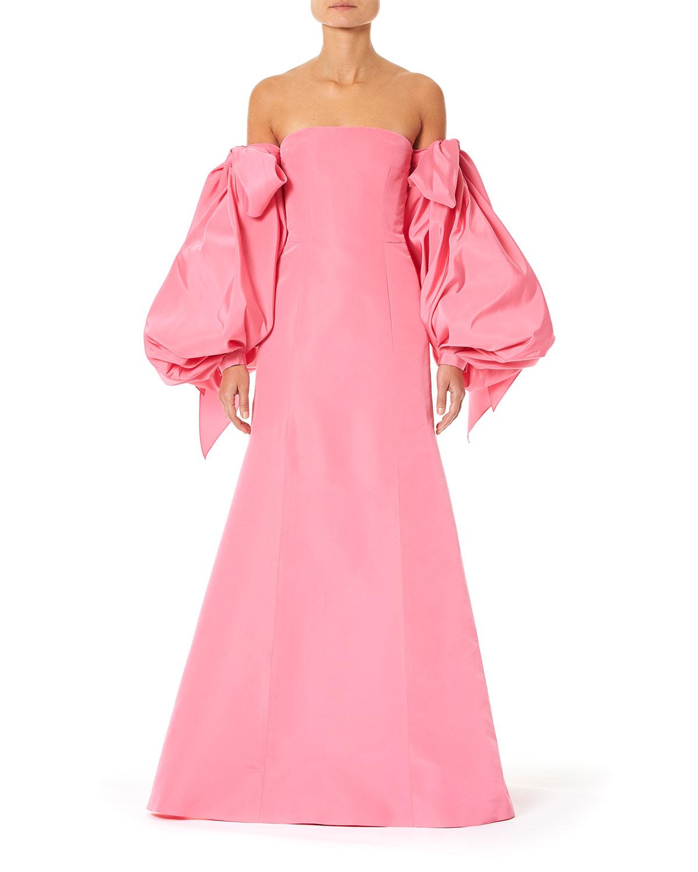 Carolina Herrera Dresses OFF-THE-SHOULDER PUFF-SLEEVE DRESS