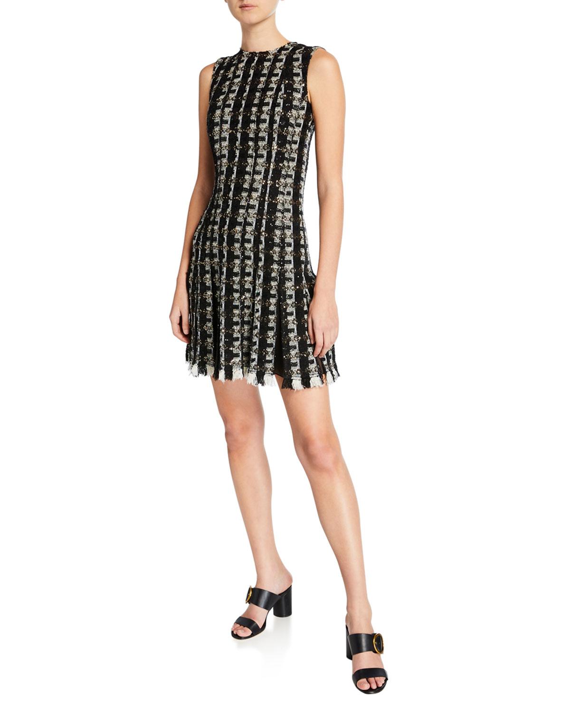 Oscar De La Renta Dresses SLEEVELESS TWEED COCKTAIL DRESS