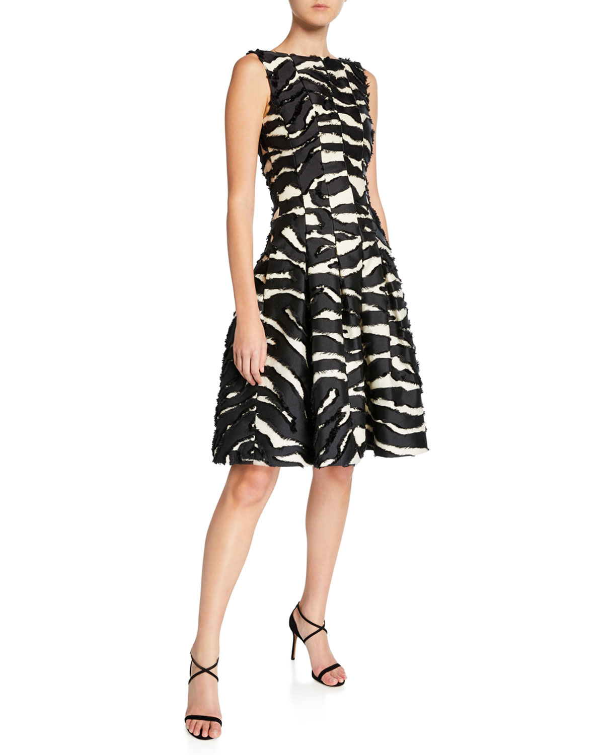 Oscar De La Renta Dresses ZEBRA PRINT DAY DRESS