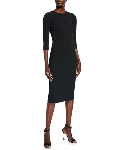 743d620a46a68 Quick Look. Dolce & Gabbana · 3/4-Sleeve Crepe Dress