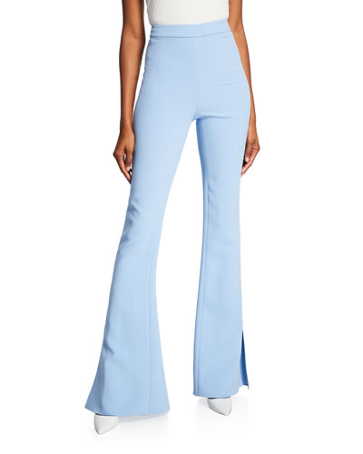 High-Waist Slightly Flared Pants