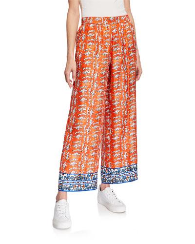Ceramic-Print Pajama Pants