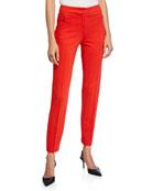 Escada Jersey Zip-Front Pants