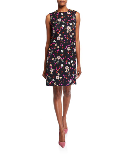 Diarra Sleeveless Floral-Print Twill Dress