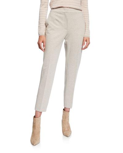 Jersey Slim-Leg Ankle Pants