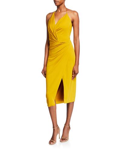 Halter-Neck Jersey Dress