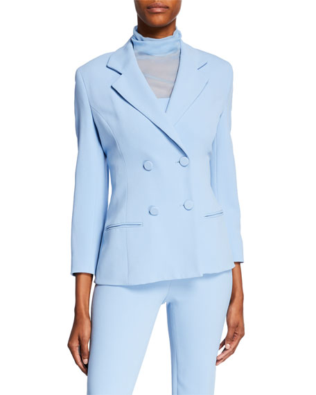 CUSHNIE Fitted Double-Breasted Jacket