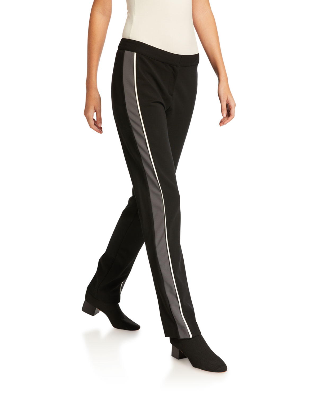 Hanne Slim Fit Leggings with Tuxedo Stripe