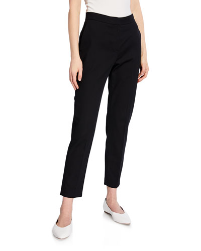 Cropped Tapered-Leg Trousers