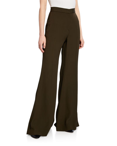 Straight Flare Leg Trousers