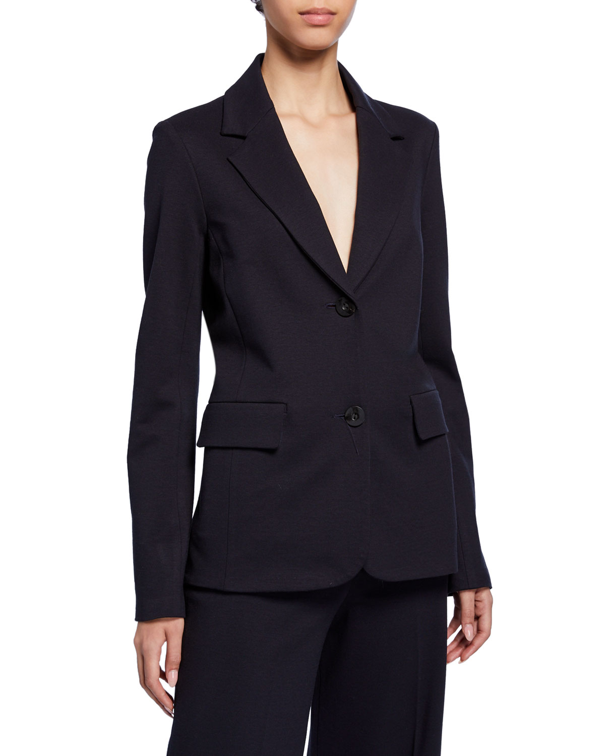 Rosetta Getty Jackets FITTED WOOL CREPE JACKET