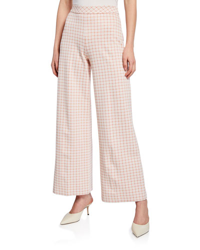 Grid Interlocked Trousers