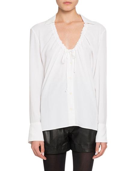 Altuzarra Long-Sleeve Tie Neck Shirt