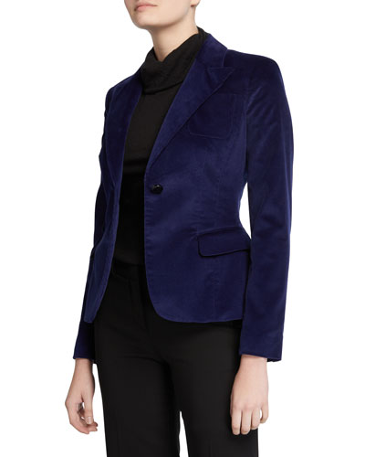 Velvet Fitted Blazer