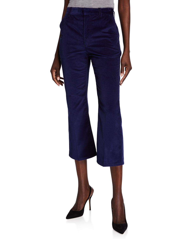 Adler Corduroy Crop Flare Pants