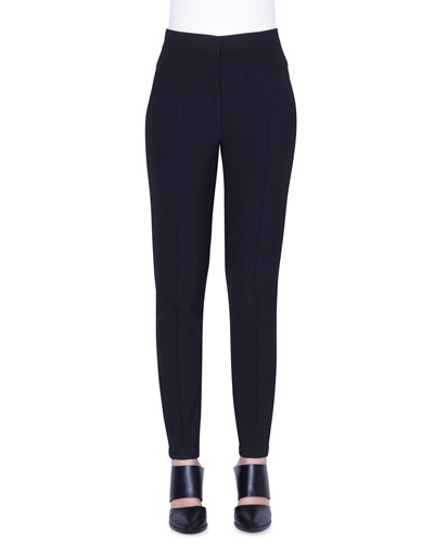 Freya Pebbled Crepe High-Rise Pants