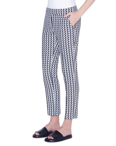 Frankie Soundboard-Pattern Jersey Pants