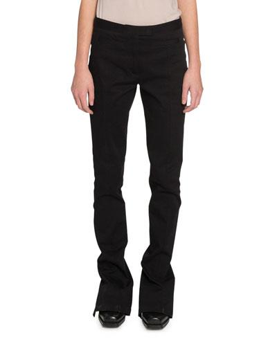 Skinny Zip-Cuff Pants