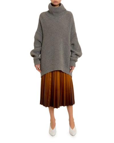 Oversized Chunky Turtleneck Sweater