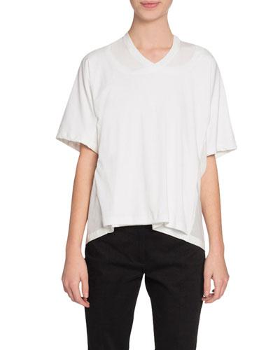 Double-Neck Short-Sleeve T-Shirt