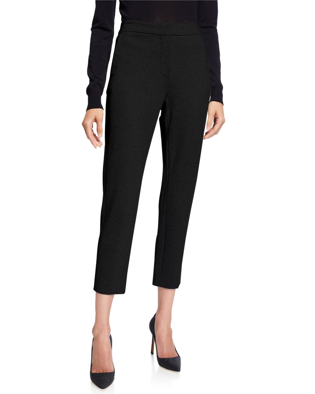 Pegno Jersey Straight-Leg Ankle Pants