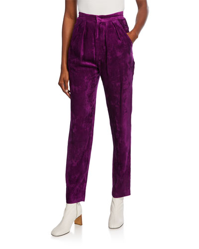 Fany Pleated Corduroy Trousers