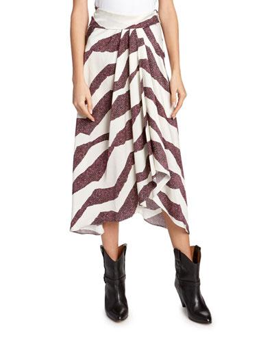 Rebeca Zebra-Print Asymmetric Skirt
