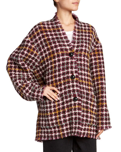 Dianaly Check Tweed Coat