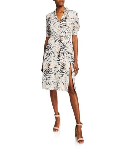 Mercado Short-Sleeve Shirtdress