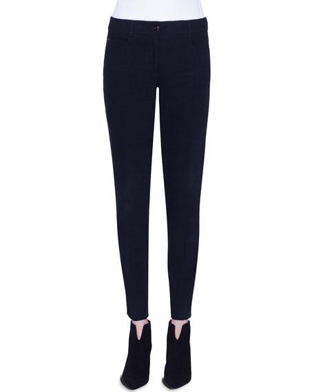 Akris Magda Slim-Leg Stretch Denim Jeans