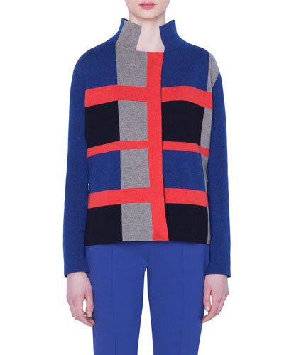 b6fbe7b75699f5 Quick Look. Akris · Cashmere Double-Face Checked Jacket