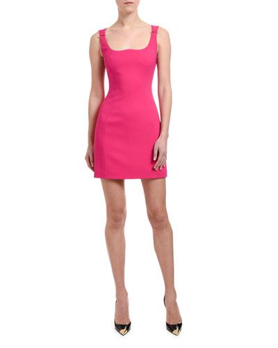 Safety-Pinned Shoulder Mini Dress